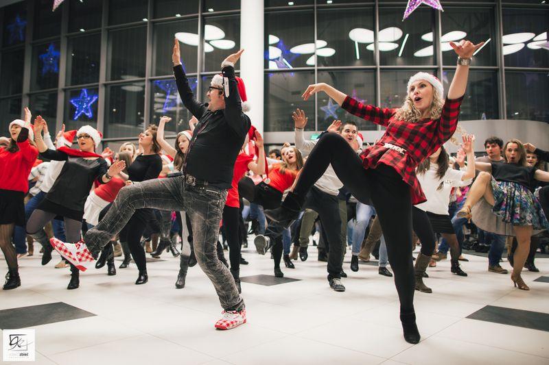 Świąteczny flash mob, Galeria Siedlce, 21 XII 2014